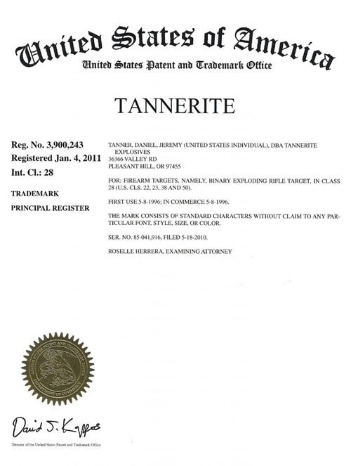 Tannerite-Trademark