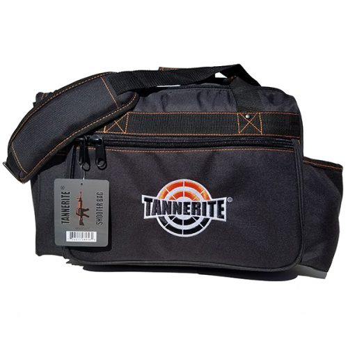 Duffel bag with tannerite logo shooter bag