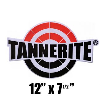 tannerite logo window cling