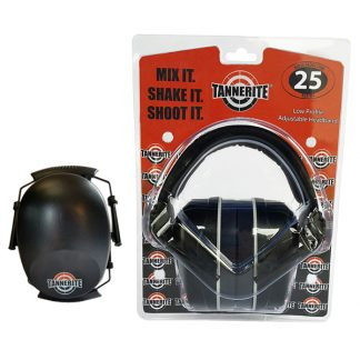 25 db shooting earmuffs with tannerite logo
